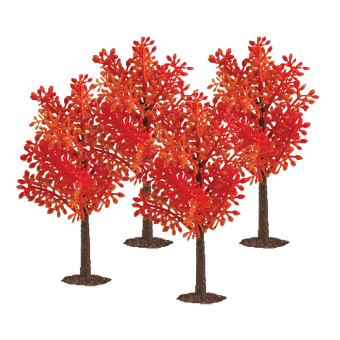 Fall Trees with Stand (set of 4)