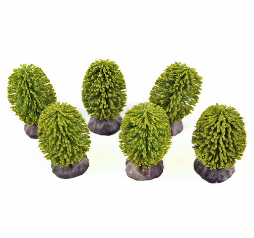 Green Bushes, set of six