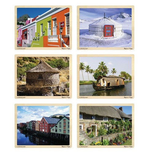 Homes Around the World Puzzle Set (6 Puzzles)