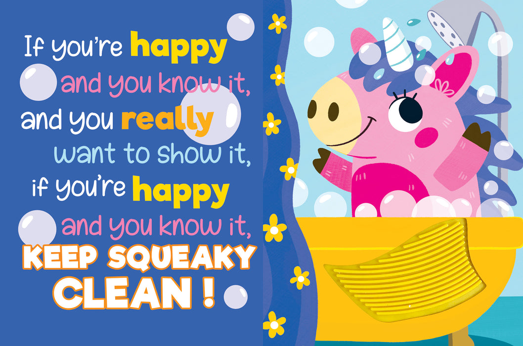 Keep Squeaky Clean Sensory Silicone Touch and Feel Board Books