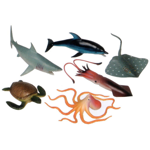 6 Pc, Large Ocean Animal Set