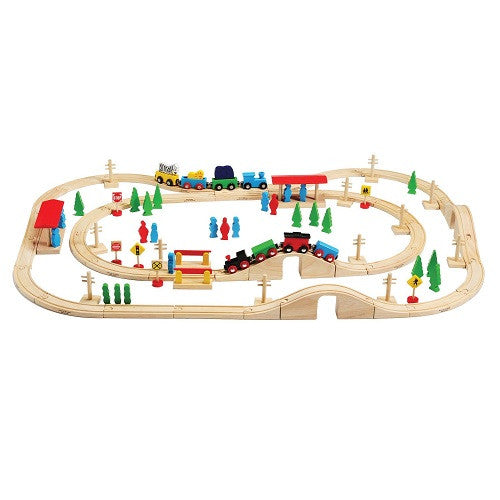 Magnetic Wooden Train Set