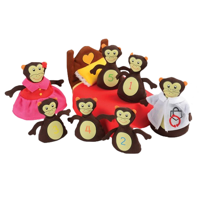 Monkeys Jumping On The Bed, 8 piece set
