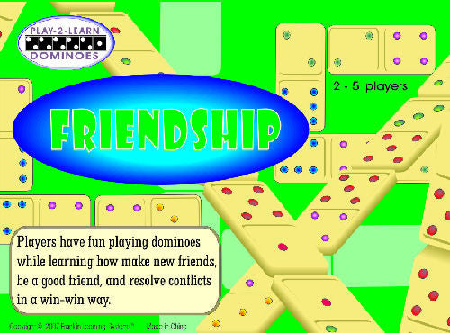 Friendship: Play-2-Learn Dominoes