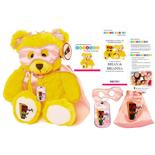 Brianna, Super Hero Play Therapy Bear and accessories