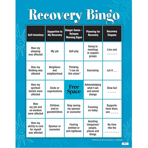 Recovery Bingo - Adult Version