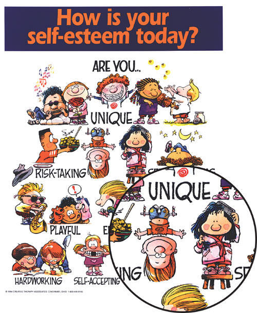 Self-Esteem Poster and Magnet
