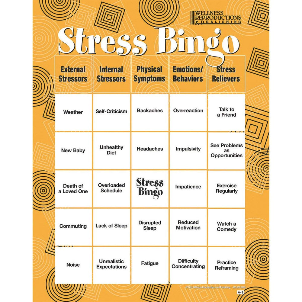 Stress Bingo - Adult Version