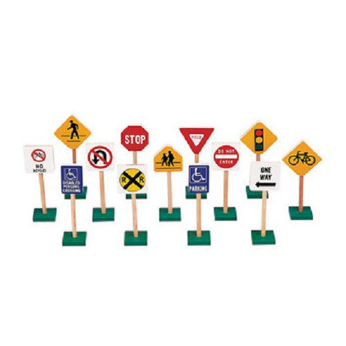 7 Inch Block Play Traffic Signs
