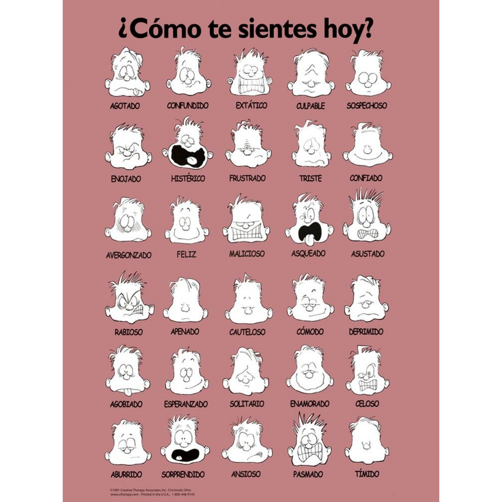 Feelings Poster - Spanish Laminated