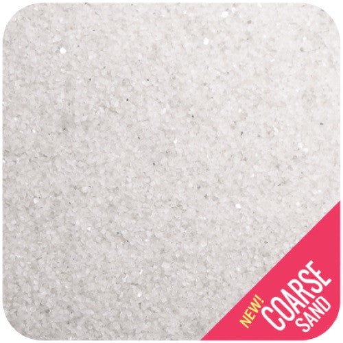 Coarse Grain White Therapy Sand, 50 pounds