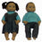 Pair of 13 Inch Dolls - Native American