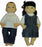Pair of 13 Inch Dolls - Asian