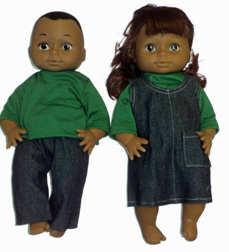 Pair of 13 Inch Dolls - Hispanic