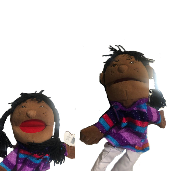 Double Face African-American Girl Puppet