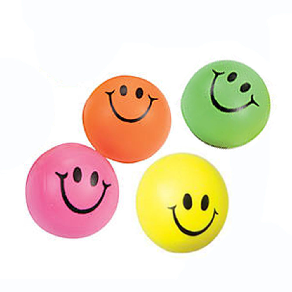 Happy Face Squeeze Balls Set of 6