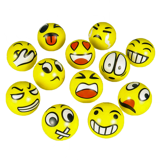 "Emoticon 3"" Stress Ball (set of 12)"