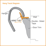 HangTrack® - Over door clothes hanger