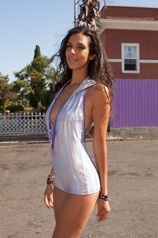 Vixen Onesie - Lavender Diamonds Holographic