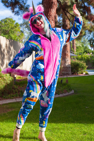 Softee Adult Animal Onesie - Unicorn