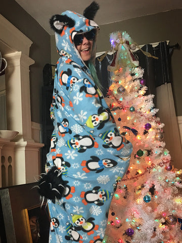 Softee Adult Animal Onesie - Penguanda