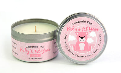 Baby Girl Pregnancy & First Year Candle Gift Set