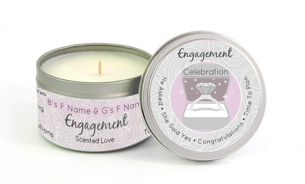 Customizable Engagment Celebration Candle