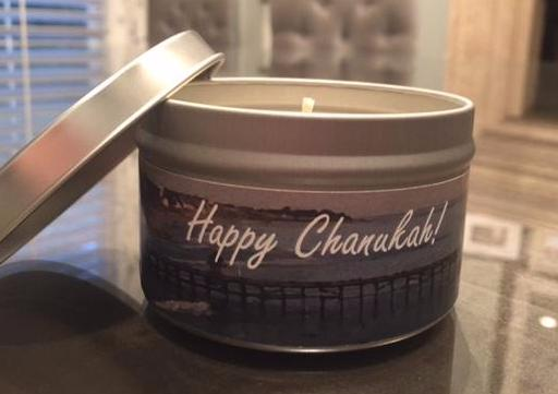 Happy Chanukah Candle