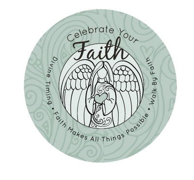 Celebrate Your Faith Front Angel -Green