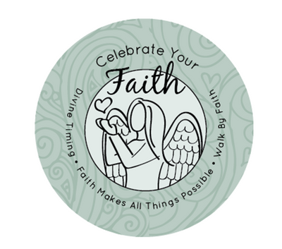 Celebrate Your Faith Side Angel - Pink