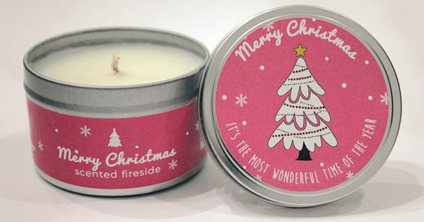 Merry Christmas Celebration Candles