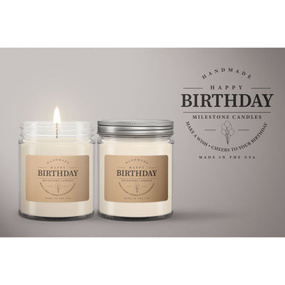 Happy Birthday Candle Mason Jar