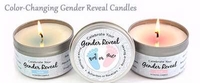 Color Changing Gender Reveal Candle Gift Set