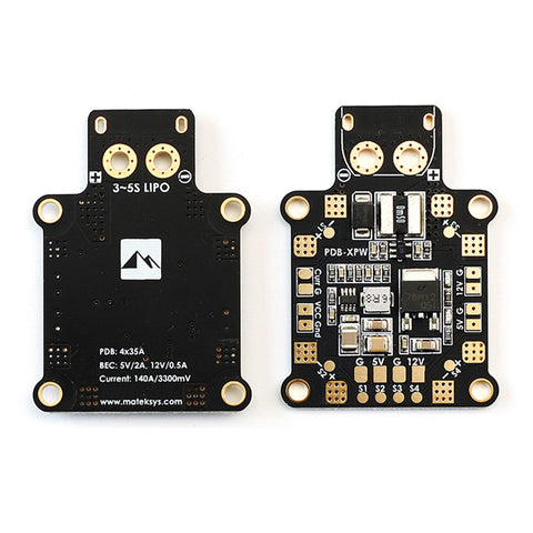 Matek PDB-XPW w/ Current Sensor 140A & Dual BEC PDB - Drone Racing Supply