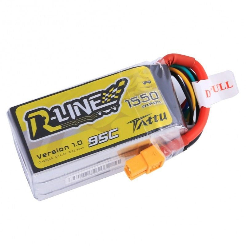 Tattu R-Line 1550mAh 4s 95c LiPo Battery - Drone Racing Supply