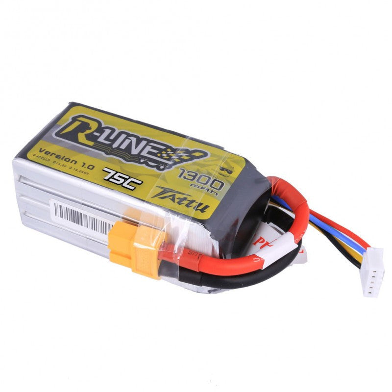 Tattu R-Line 1300mAh 4s 75c Lipo Battery - Drone Racing Supply