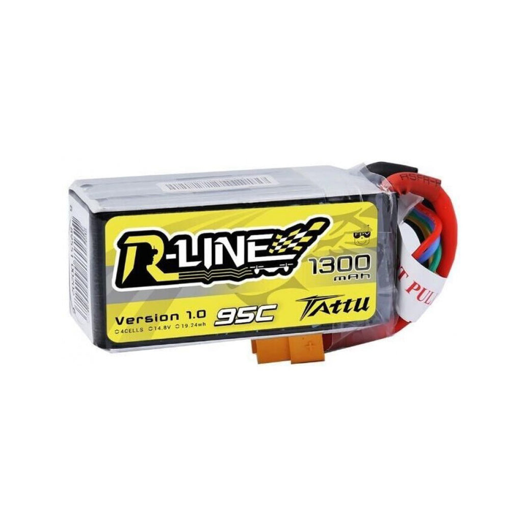 Tattu R-Line 1300mAh 4s 95c Lipo Battery - Drone Racing Supply