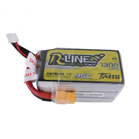 Tattu R-Line 1300mAh 6s 95c Lipo Battery - Drone Racing Supply