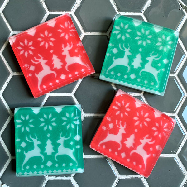 Festive Christmas Sweater soaps - hygge gifts from Soapso