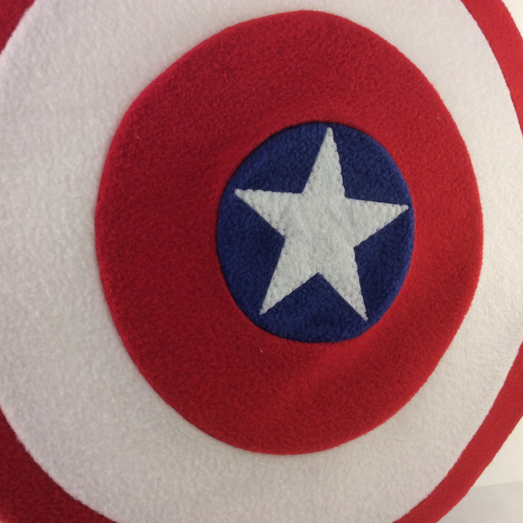 Patriotic Circle Shield Pillow
