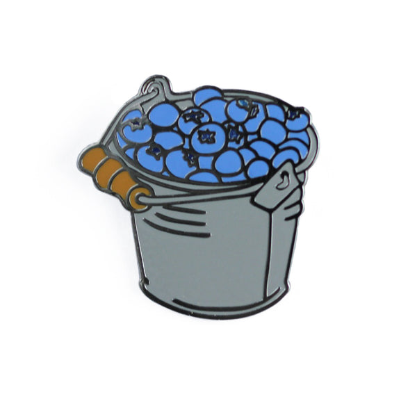 Blueberry Bucket Enamel Pin