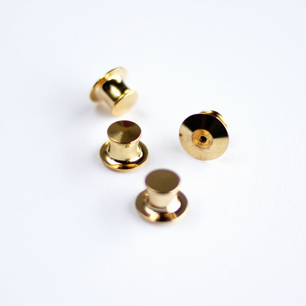 Gold Locking Pin Backs (Set of 4)