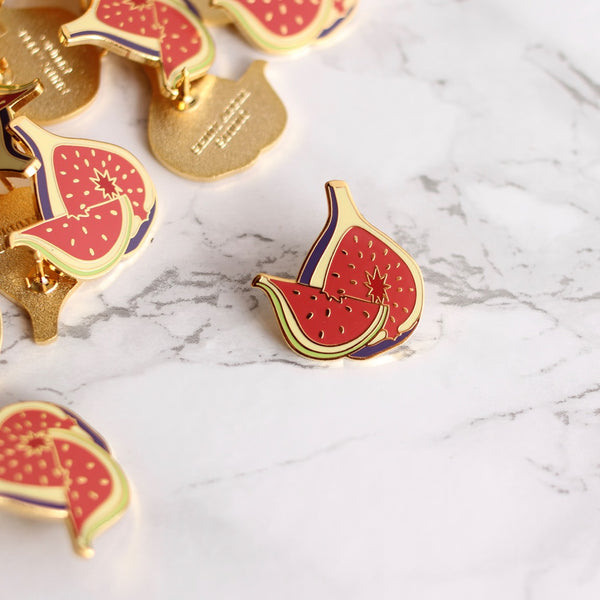 Fig Enamel Pin