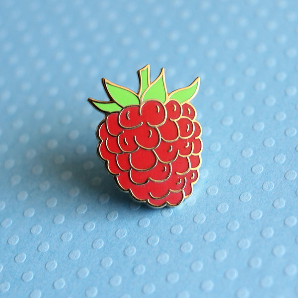 Raspberry Enamel Pin