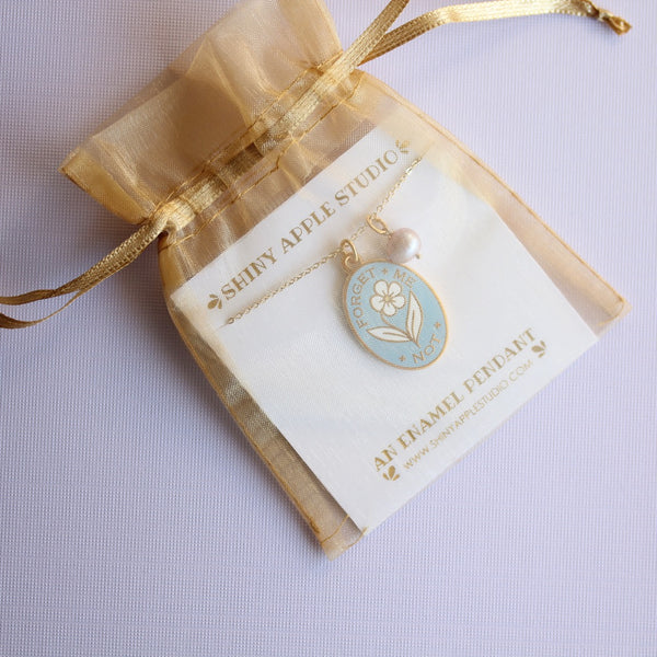 Forget Me Not Necklace - Blue