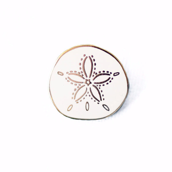Sand Dollar Enamel Pin