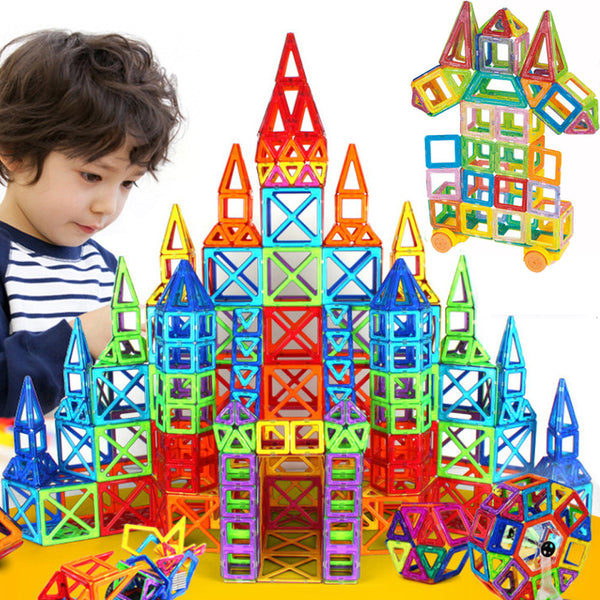 Snappy Toys Mini Magnetic Designer Construction Set Model & Building Toy Plastic Educational Magnetic Blocks Toys For Kids