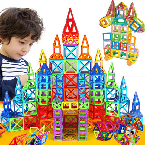 Mini Magnetic Designer Construction Set Model & Building Toy Plastic Educational Magnetic Blocks Toys For Kids