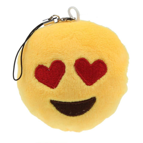Snappy Toys 2016 new Cute Emoji Smiley Emoticon Heart Eyes Soft Toy Gift Pendant Bag Accessory Stuffed & Plush