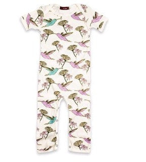 Short Sleeve Romper - Hummingbird